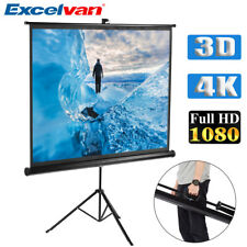 """100"""" 4:3 Portable Stable Tripod Cinema Projection Hd Movies Projector Screen New"""