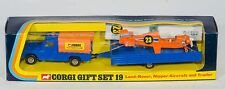 Corgi Gift Set 19 Land-Rover, Nipper Aircraft & Trailer. MINT/Boxed. 1970's
