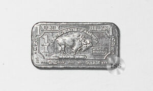 Fine .999 Niobium Ingot, One Gram Pure Buffalo Bar Collectible Elemental Bullion