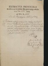 GIESSEN Giesen Amtsblatt Großherzoglich Hessischer Regierung 1808 Dokument  (533