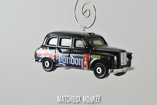 London Taxi Austin FX British Flag Custom Christmas Ornament 1/64 Adorno Cab