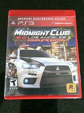 PlayStation 3 Midnight Club Los Angeles PS 3 Complete Edition Greatest Hits Sony