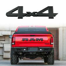 4x4 Matte Black Aluminum Rear Tailgate Fender Badge Emblem Sticker For Dodge Ram