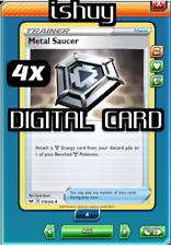 4x Metal Saucer Pokemon TCG Online PTCGO Support SENT FAST 170/202 DIGITAL CARD