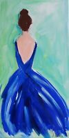 Impressionism Modern Original Painting on canvas 10x20 inches