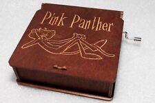 "Pink Panther #1 Music Box - Engraved Wooden Music Box - ""Pink Panther Theme"""