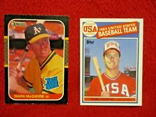 Lot of Two Mark McGwire Rookie Cards Topps #401 and Donruss #46