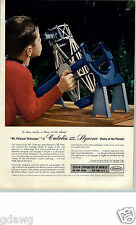 1956 PAPER AD 4 PG Catalin Toys Corp Telescope Sub Machine Cap Gun KMT Train Set