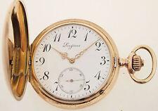 LONGINES TASCHENUHR IN 14ct GOLD - ALTER UM 1900 - GESAMTGEWICHT ca 96 GRAMM