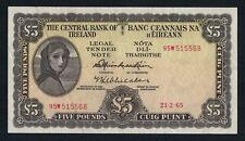 5 Pounds Irish Ireland Series A Lavery Banknote 65-A 23.2.65 95W515568