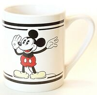 Disney Mickey Mouse 12 Oz Cup Mug Gibson Classic Ceramic White Vintage NWOT