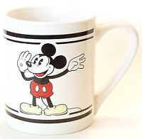 Disney Mickey Mouse 12 Oz Ceramic Cup Mug Gibson Classic White Vintage NWOT