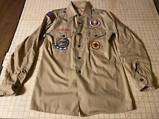 Boy Scouts of America Official Uniform Bsa Scout Shirt Caddo Area Patch 1985
