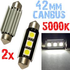 2x Bollen Festoen 42mm 5000K LED 3x5050 White Light Car Number Plate 12V 2D8 2D8