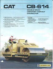 Equipment Brochure - Caterpillar - CB-614 - Asphalt Compactor - c1987 (E4452)
