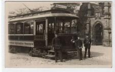 Picture postcard of a Rochdale Corporation Tram at Cemetary Gates (C35480)