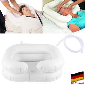 Aufblasbares Kopfwaschbecken Haarwaschbecken Haarwaschwanne mit Abflussschlauch