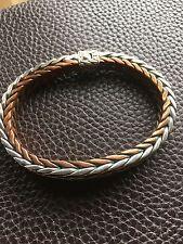"JOHN HARDY Bali Designer 925 Sterling Silver/Copper Link Men's Bracelet 8.75"""