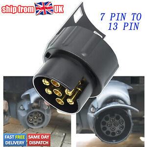 7 Pin To 13 Pin Trailer Adapter Electrical Towing Truck Plug Converter Socket UK