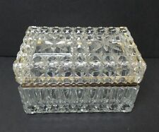 VINTAGE HEAVY FRENCH CRYSTAL JEWELRY CASKET BOX, c. 1930's, BACCARAT??