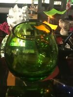 BIG GREEN NEON GLASS BOWL / MADE IN POLAND