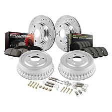 Front Power Stop CRK7701 Coated Brake Rotor and Ceramic Brake Pads
