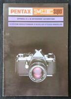Catalogue appareil photo PENTAX ME  ASAHI catalog Katalog