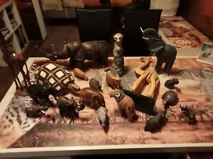 Afrika Figuren große Sammlung, Holz handgeschnitzt, Namibia, Botswana, Tansania