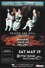 Heaven and Hell Ronnie Dio Iommi Butler Appice BLACK SABBATH  Concert Handbill