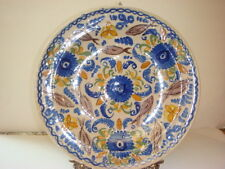 """Antique (c. 19th Century) Spanish Majolica Faience Plate, charger 12 .25 """""""