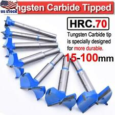 15-100mm Forstner Bit Woodworking Drill Bit Set Boring Hole Saw Cutter Carbide