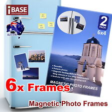 6x Frames 6x4 Magnetic Photo Picture Notes Fridge Clear Pocket Idea Gift Decor