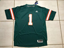 Nwt Adidas Miami Hurricanes #1 Stitched Premier Football Jersey Men's Xl