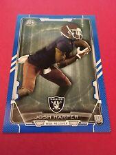 Josh Harper Raiders 2015 Bowman Blue Rookie #76 85/499