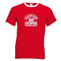 Liverpool Fan Retro Tee Champions 2020 Football T-shirt cotton Red Color Premier
