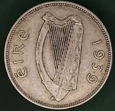 1939 Irish EIRE Ireland Florin/ two shilling 2s coin, 75% silver *[17650]