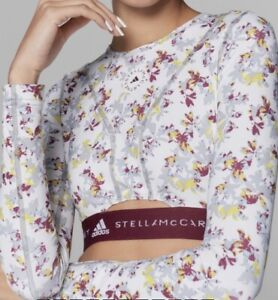 ADIDAS BY STELLA MCCARTNEY FUTURE PLAYGROUND LONG SLEEVE CROP TOP Womens Size S