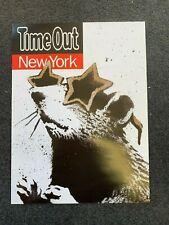 RARE Original Banksy New York Rat Poster A3 2010 flat Exit through the gift shop