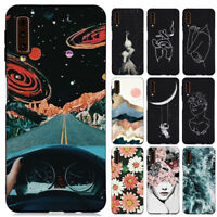 For Samsung Galaxy A7 A9 J4 J6 2018 Slim Soft Silicone Painted TPU Case Cover