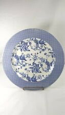 Blue Garden Gingham Bird Of Paradise Dinner Plate (s) Stoney Hill