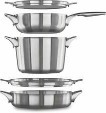Calphalon 2032760 CALPHALON 5pc Stainless Steel cookware set. OPEN BOX