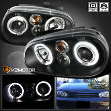 For 1999-2005 VW Golf GTI R32 MK4 Black Projector Headlights