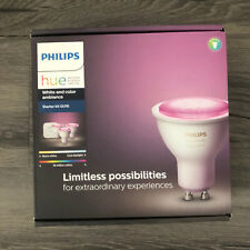Philips Hue GU10 White & Color Ambiance Starter Kit, 3 light bulbs, HUE Bridge