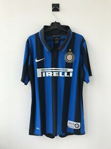 !BOYS! INTER MILAN 2007/2008 HOME FOOTBALL SHIRT SOCCER JERSEY NIKE CENTENARY