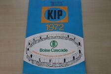 178205) KIP Caravan - Modellprogramm - Prospekt 1971
