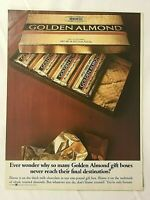 1984 Magazine Advertisement Page Hershey's Golden Almond Chocolate Candy Bar Ad