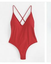 Red Criss Cross Back Swimsuit