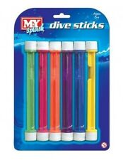 M.Y Underwater 6 Dive Sticks Swimming Pool Kids Game Swim Fun Toy Holiday Gift