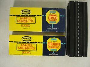 "1960 ""AURORA"" Model Motoring (16) 9"" Straight Track & 4 9"" Terminal Straight"