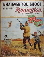 Remington Whatever You Shoot Rifle Hunting Distressed Retro Vintage Tin Sign, Ne